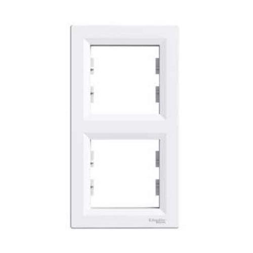 Rámeček dvojnásobný vertikální, bílá Schneider Asfora