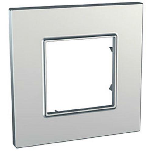 Krycí rámeček Quadro jednonásobný, Silver Schneider