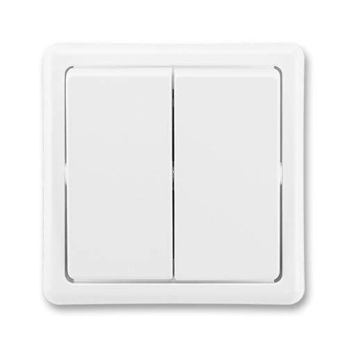 Přepínač sériový, řazení 5, jasně bílá, ABB Classic