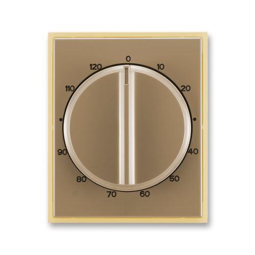 Kryt ovladače časového mechanického, kávová/ledová opálová, ABB, Element