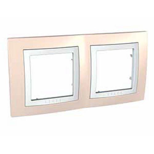Krycí rámeček dvojnásobný kompletní, Cream/Polar Schneider
