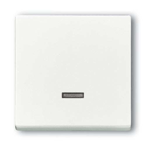 Kryt stmívače s tlačítkovým ovladačem, studio bílá, ABB Future linear, Solo