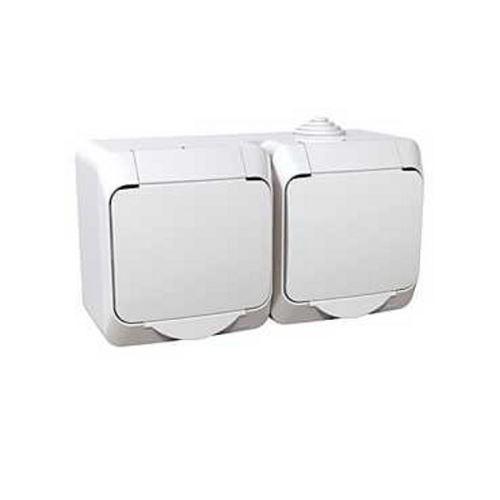 Zásuvka dvojnásobná 230V 16A 2P+PE, bílá Schneider Cedar Plus