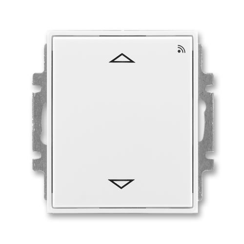 Spínač žaluziový s krátk. ovl., s RF přijímačem pro 868MHz, bílá/bílá, ABB Element, Time
