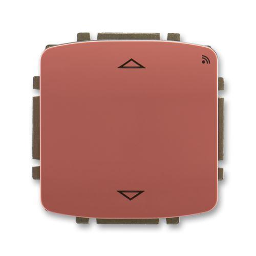 Spínač žaluziový s krátkocestným ovl., s RF přijímačem, 868 MHz, vřesová červená, ABB Tango