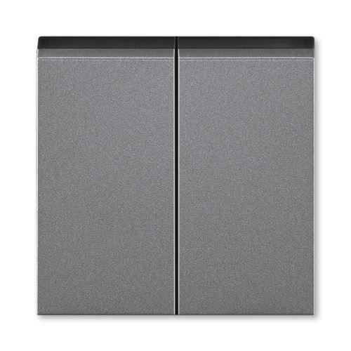 Kryt dělený, ocelová/kouřová černá, ABB Levit M