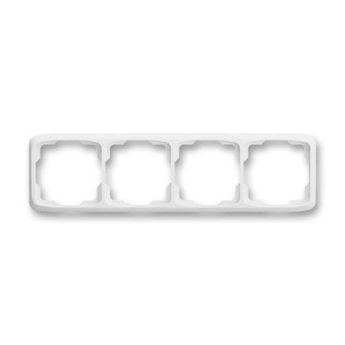 Rámeček čtyřnásobný vodorovný, bílá, ABB Tango 3901A-B40 B