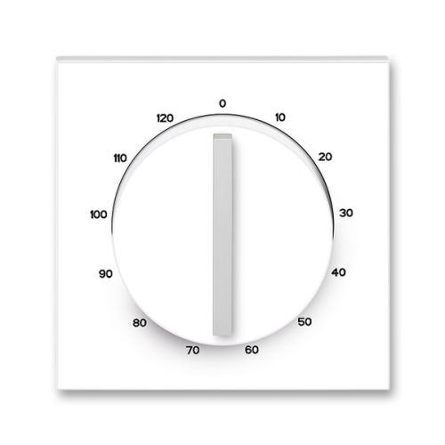 Kryt ovládače časového mechanického, bílá/ledová bílá, ABB Neo