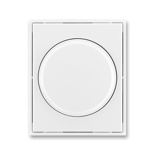 Kryt stmívače s otočným ovládáním s upevňovací maticí, bílá/bílá, ABB Element, Time