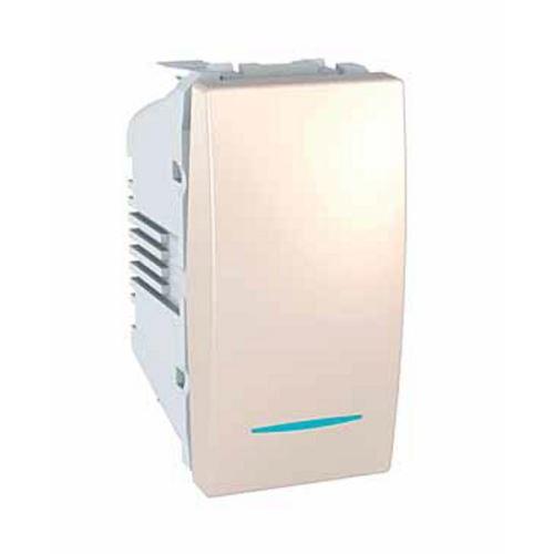 Ovládač tlačítkový s orientační kontrolkou, ř. 1/0So, 1 modul, Marfil Schneider