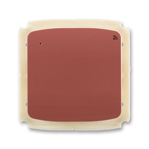 Vysílač RF s krátkocestným ovladačem, nástěnný, 868 MHz, vřesová červená, ABB Tango