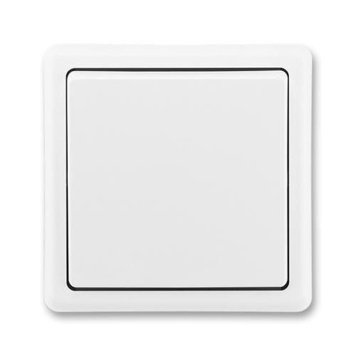 Přepínač křížový, řazení 7, jasně bílá, ABB Classic