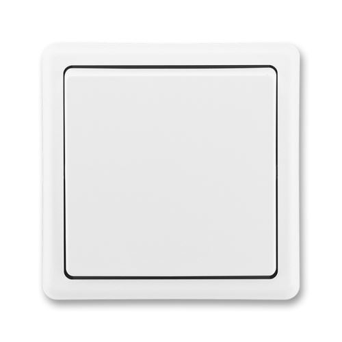 Spínač jednopólový, řazení 1, jasně bílá, ABB Classic 3553-01289 B1