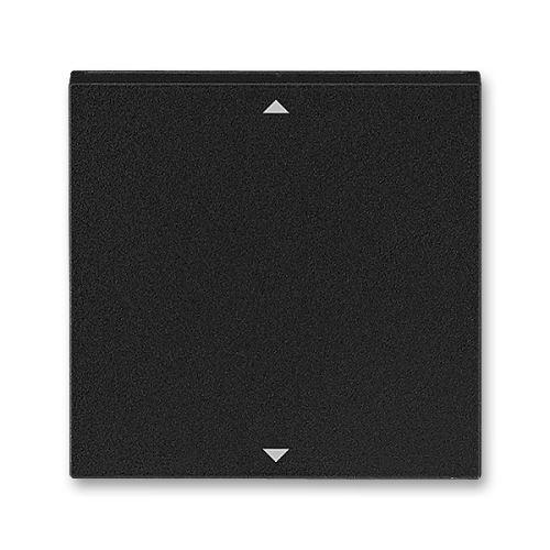 Kryt spínače žaluziového Busch-Jalousiecontrol II s krátkocestným ovládáním, onyx/kouř. černá, ABB Levit