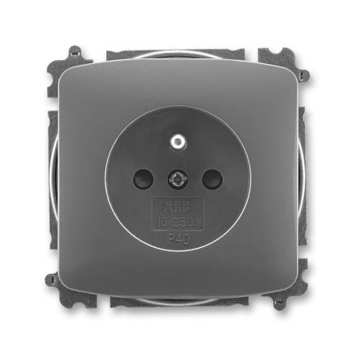 Zásuvka jednonásobná s clonkami, kouřově šedá, ABB Tango 5519A-A02357 S2