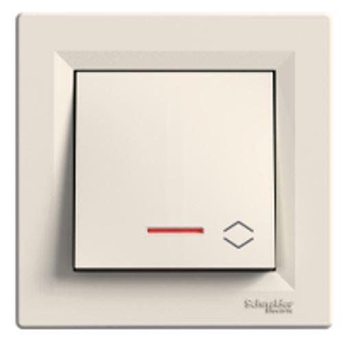 Přepínač střídavý orientační kontrolka ř.6So, krémová Schneider Asfora