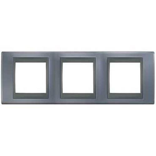 Krycí rámeček Top trojnásobný, Metal grey/Grafit Schneider