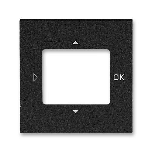 Kryt ovladače časovače komfortního nebo časovače Busch-Timer, onyx/kouř. černá, ABB Levit
