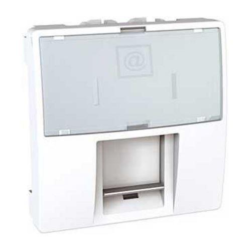 Zásuvka datová 1xRJ45 S-One, kat.6 STP, 2modul, polar Schneider