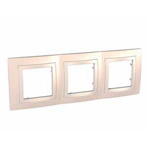 Krycí rámeček trojnásobný kompletní, Cream/Marfil Schneider
