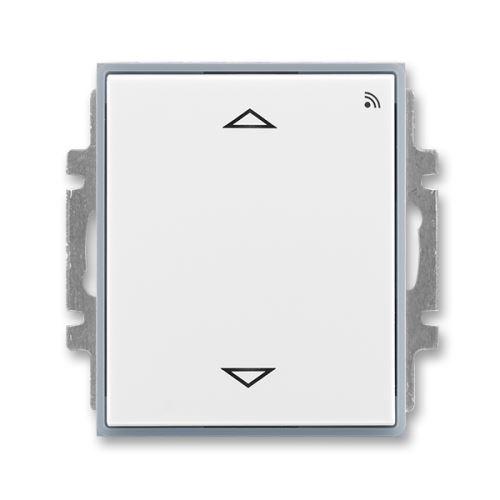 Spínač žaluziový s krátkocestným ovladačem, s RF přijímačem pro 868 MHz, bílá/ledová šedá, ABB, Element