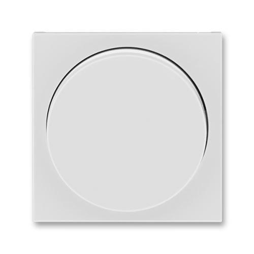 Kryt stmívače s otočným ovladačem, šedá/bílá, ABB Levit