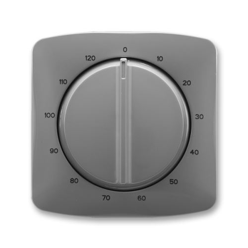 Kryt ovládače časového s otočným ovladačem, kouřově šedá, ABB Tango