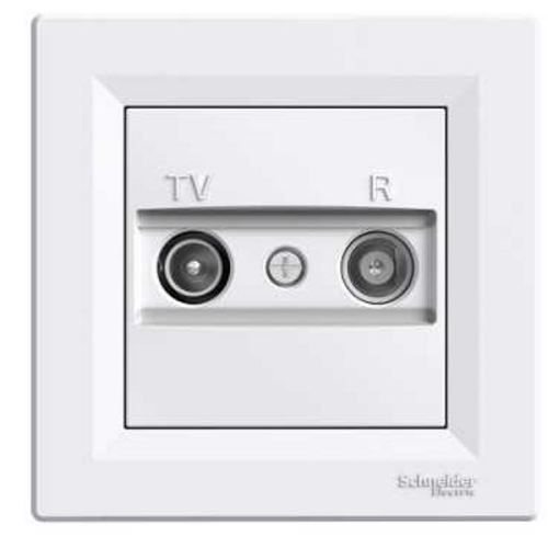 Zásuvka TV-R, koncová - 1dB, bílá Schneider Asfora