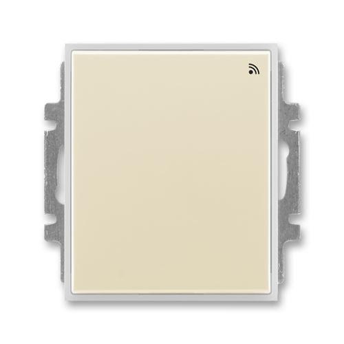 Spínač s krátkocestným ovladačem s RF přijímačem pro 868 MHz, slonová kost/ledová bílá, ABB, Element