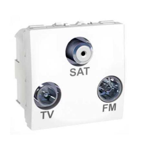 Zásuvka R/TV/SAT s F-konektorem, koncová, Polar Schneider