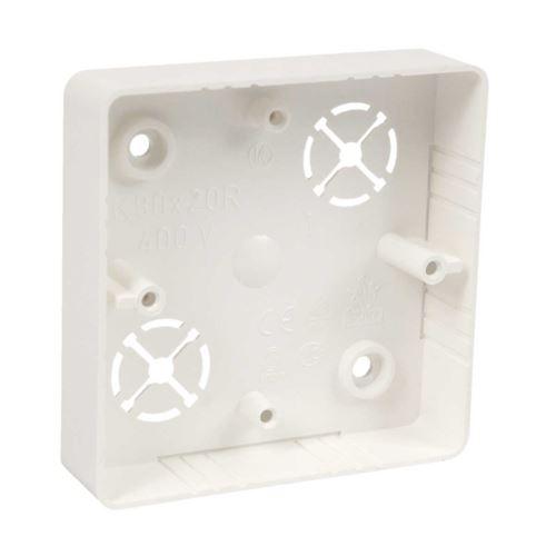 Krabice lištová LK80x20R/1 pro řady Classic nebo Swing ABB 81x81x19mm