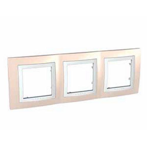 Krycí rámeček trojnásobný kompletní, Cream/Polar Schneider