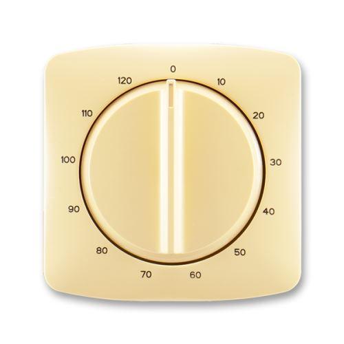 Kryt ovládače časového s otočným ovladačem, béžová, ABB Tango
