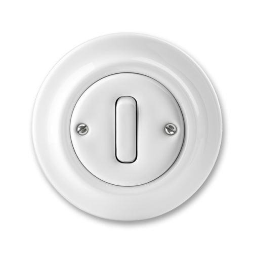 Přepínač střídavý, bílá, porcelán, ABB Decento 3559K-C06345