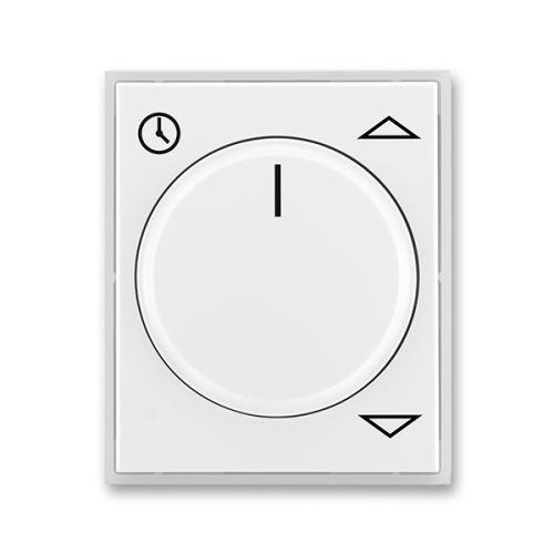 Kryt spínače žaluziového komfortního s otočným ovladačem, bílá/ledová bílá, ABB Element, Time