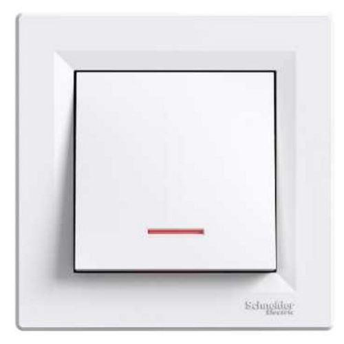 Tlačítko s orientační kontrolkou, ř.1/0So, bílá Schneider Asfora
